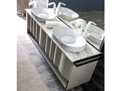 Mobile lavabo doppio sospeso LEON | Mobile lavabo - Zoe Gold