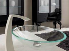 Lavabo da appoggio ovale in vetro ANTARES   Lavabo - Zoe Gold