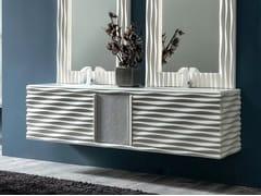 Mobile lavabo doppio sospeso EBON | Mobile lavabo - Zoe Gold