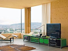 Madia con ante a battente con cassetti USM HALLER LOWBOARD AS MEDIA UNIT | Madia - USM MODULAR FURNITURE