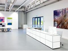 Banco per reception modulare in metallo USM HALLER STORAGE FOR PAY DESKS | Banco reception per ufficio - USM Haller