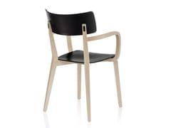 Sedia in legno con braccioli DUE | Sedia con braccioli -