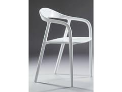 Sedia laccata con braccioliNEVA | Sedia laccata - ARTISAN