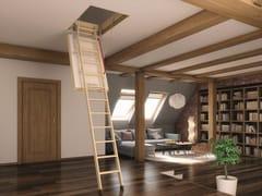 Scala retrattile in legnoLWT - FAKRO