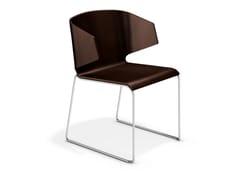 Sedia a slitta in legnoCARMA 3111-00 - CASALA