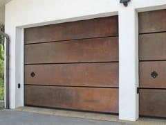 Portone da garage sezionale in acciaio Corten™CORTEN - BREDA SISTEMI INDUSTRIALI