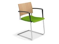 Sedia a sbalzo con braccioli FENIKS II | Sedia con braccioli - Feniks II