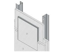 Botola di ispezione antincendio per setti verticali AKI VERTICAL EI - EI120 - MGO FIRE