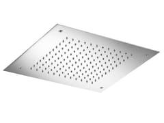 MINA, VELA 08402 Soffione doccia a pioggia a soffitto in acciaio inox in stile moderno con sistema anticalcare