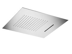 MINA, VELA 08403 Soffione doccia a cascata a pioggia a soffitto in acciaio inox