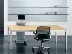 Scrivania operativa rettangolare in legnoZEFIRO EXE | Scrivania - CASTELLANI.IT