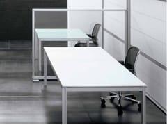Scrivania rettangolare in legnoZEFIRO SYS | Scrivania - CASTELLANI.IT