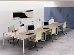 Postazione di lavoro multipla in legnoVISTA | Postazione di lavoro multipla - CASTELLANI.IT