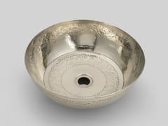 Lavabo da appoggio in metalloSILVER 1 - BLEU PROVENCE
