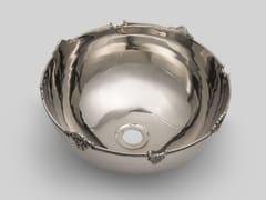 Lavabo da appoggio in metalloSILVER 4 - BLEU PROVENCE