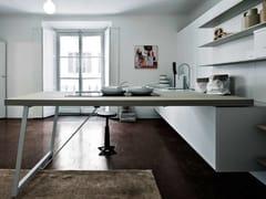 Cucina con penisola senza maniglie KALEA - COMPOSIZIONE 8 - Kalea