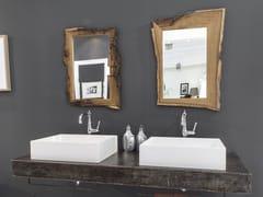 Piano lavabo in acciaio Corten™NEW AGE - BLEU PROVENCE