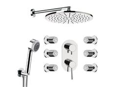 Miscelatore per doccia in ottone cromato con doccetta MINIMAL | Miscelatore per doccia con doccetta - Minimal