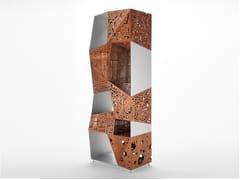 Libreria in alluminio e legno RIDDLED TOTEM - Riddled