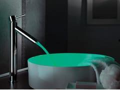 Miscelatore per lavabo da piano in ottone cromato a LED senza scarico MINIMAL COLOR | Miscelatore per lavabo - Minimal Color