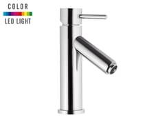 Miscelatore per lavabo da piano in ottone cromato a LED senza scarico MINIMAL COLOR | Miscelatore per lavabo da piano - Minimal Color