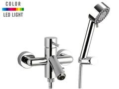 Miscelatore per vasca a muro a led con doccetta MINIMAL COLOR | Miscelatore per vasca con doccetta - Minimal Color
