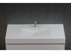 Lavabo da appoggio rettangolare in Corian® D TAGLIO | Lavabo in Corian® -