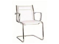 Sedia a sbalzo in rete con braccioli per sale d'attesaTEKNIK-R | Sedia a sbalzo - CASTELLANI.IT