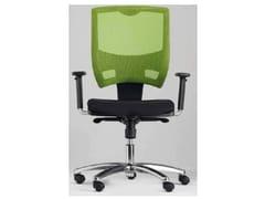 Sedia ufficio ad altezza regolabile con ruoteMETAL - CASTELLANI.IT