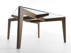 Tavolo quadrato in legno e vetro AUTOREGGENTE - Autoreggente