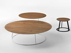 Tavolino rotondo in legno ALBINO FAMILY | Tavolino in legno - Albino Family