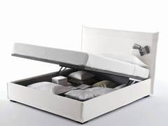 Letto contenitore con testiera contenitore TASCA | Letto contenitore - Tasca