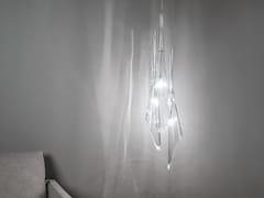 Lampada a sospensione alogena in cristallo CALLE   Lampada a sospensione in cristallo - Calle