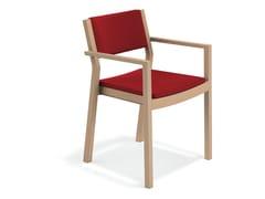 Sedia imbottita con braccioli WOODY | Sedia con braccioli - Woody