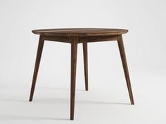 Tavolo da salotto rotondo in legno VINTAGE   Tavolo rotondo - Vintage