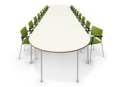 Tavolo da riunione laccato ovale TAVO FIX | Tavolo da riunione ovale - Tavo