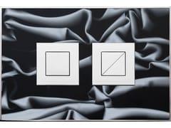 Placca di comando per wc FANTASY DRAPPO NERO LUCIDA - Design