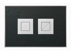 Placca di comando per wc in pietra naturale STONE ARDESIA SATINATA - Design