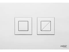 Placca di comando per wc cromata in acciaio inox INOX CROMO LUCIDO/LUCIDA - Design