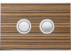 Placca di comando per wc WOOD ZEBRANO LUCIDA - Design