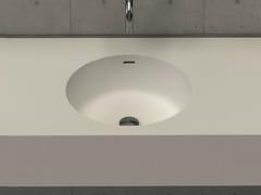 Lavabo rotondo sospeso con piano CIRCLE DESK -