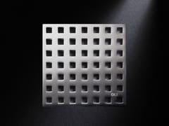 Scarico per doccia in acciaio satinatoGRIGLIA QUADRO | Scarico per doccia in acciaio satinato - OLI
