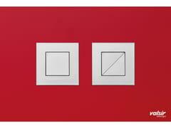 Placca di comando per wc in vetro temperato CRYSTAL ROSSO SATINATA - Design