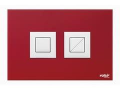 Placca di comando per wc in vetro temperato CRYSTAL ROSSO LUCIDA - Design
