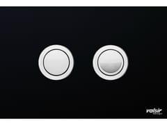 Placca di comando per wc in vetro temperato CRYSTAL NERO LUCIDA - Design