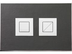 Placca di comando per wc in pietra naturale STONE ANTRACITE LUCIDA - Design