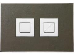 Placca di comando per wc in pietra naturale STONE MARRONE LUCIDA - Design