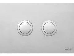 Placca di comando per wc cromata in acciaio inox INOX CROMO SATINATO/SATINATA - Design