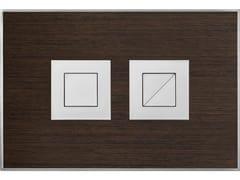 Placca di comando per wc WOOD WENGE SATINATA - Design