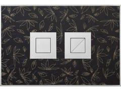 Placca di comando per wc FANTASY GLITTER ORO SATINATA - Design